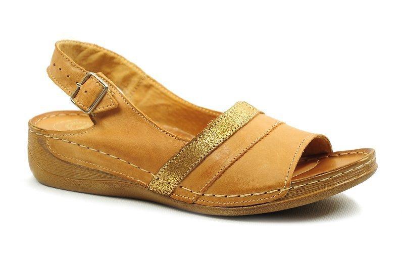 1104 Beżowe komfortowe sandały damskie Łukbut